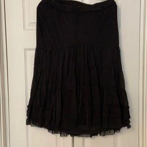 NWT Max Studio black tiered skirt